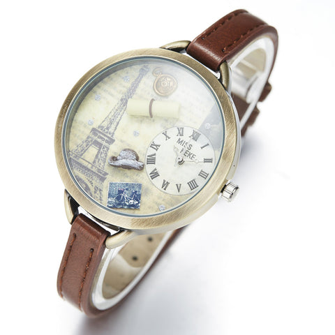 Vintage Paris Watch - Thin Styled Band