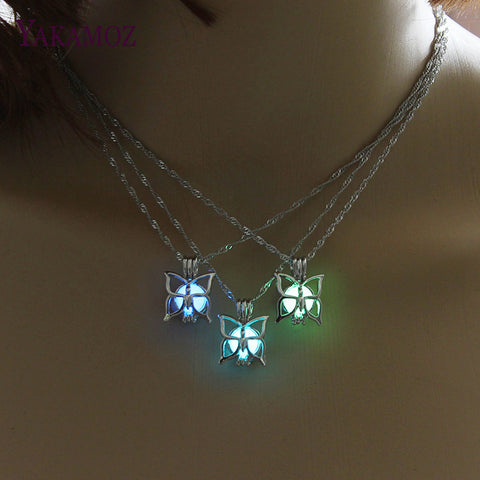 Luminous Butterfly Necklace