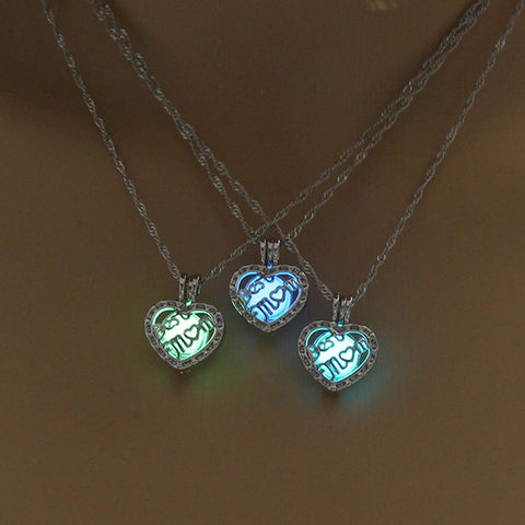 Luminous Heart Shape Necklace (BEST MOM )