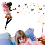 Fairy with Butterflies Wall Decal