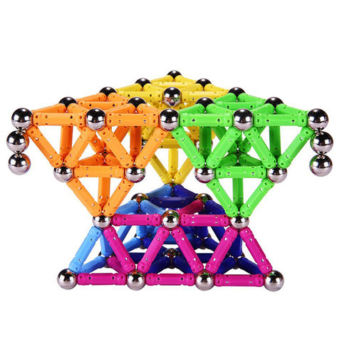 Mighty Magnetic Sticks Building Kit - (magnetic bar and metal balls)