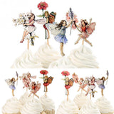 Flower Fairy Cupcake Toppers-(48-Pcs)