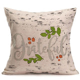 "Beautiful Fall Soft Linen Pillow Case 18""x18"""