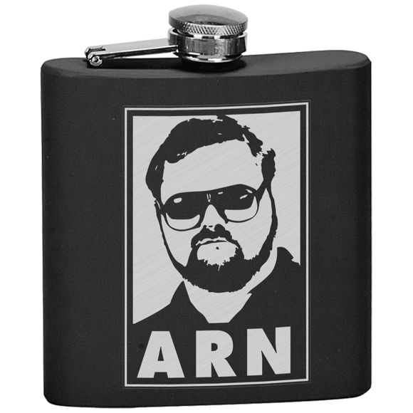 Arn Icon Flask  {Laser Etched No Colored Art}