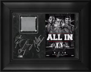 Limited Edition Autographed and Numbered ALL IN Ring Canvas
