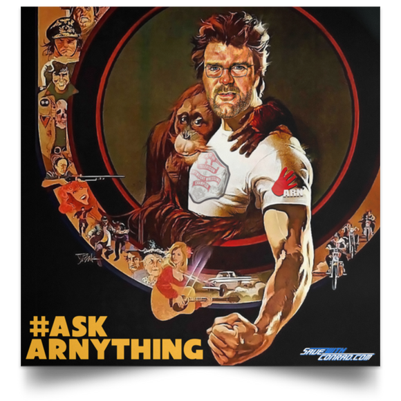 Ask Arn #9 Satin Square Poster