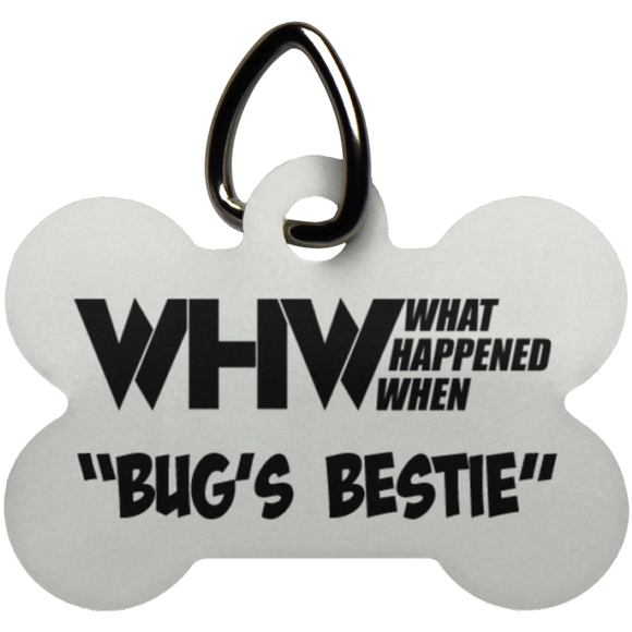 WHW Bug's Bestie Dog Bone Pet Tag