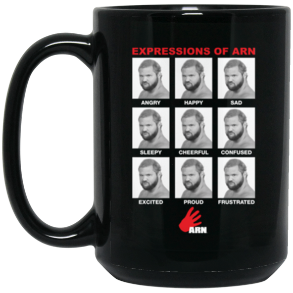 Expressions of Arn 15 oz. Black Mug