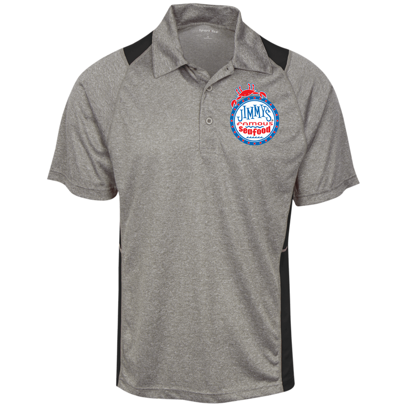 Jimmy's Famous Seafood Sport-Tek Heather Moisture Wicking Polo