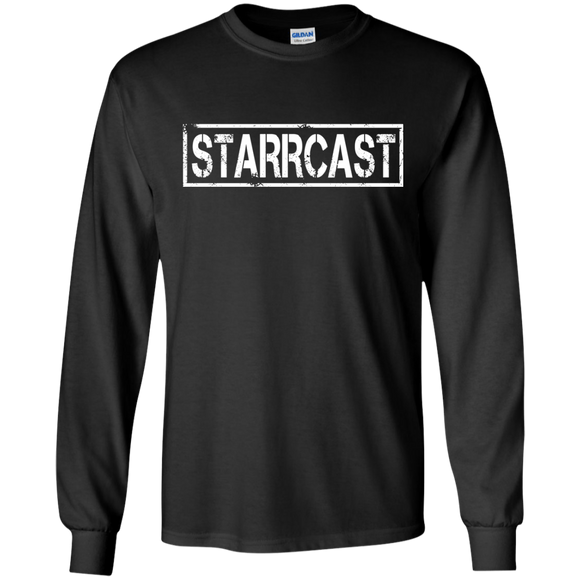 Starrcast LS Ultra Cotton T-Shirt (white logo)