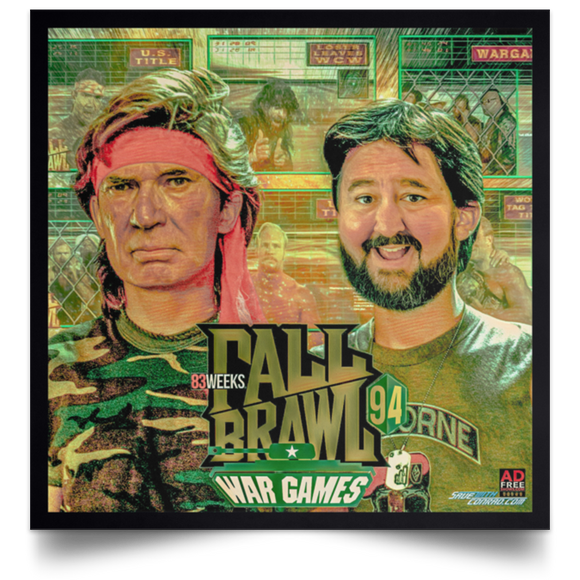 Fall Brawl '94 Satin Square Poster
