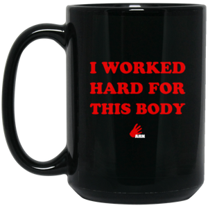 Hard Body 15 oz. Black Mug