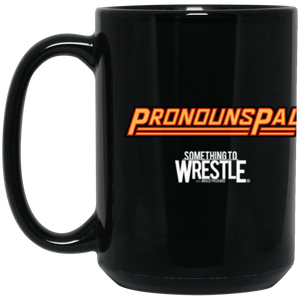 Pronouns Pal 15 oz. Black Mug