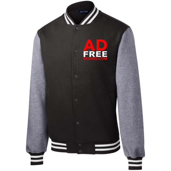 Ad Free Shows Fleece Letterman Jacket