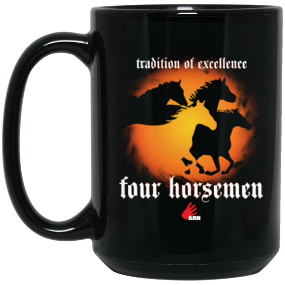 Tradition of Excelence 15 oz. Black Mug