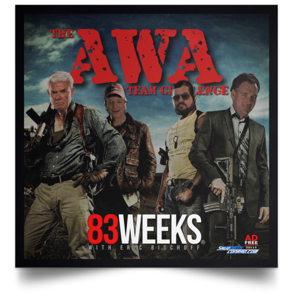 AWA Team Challenge Satin Square Poster