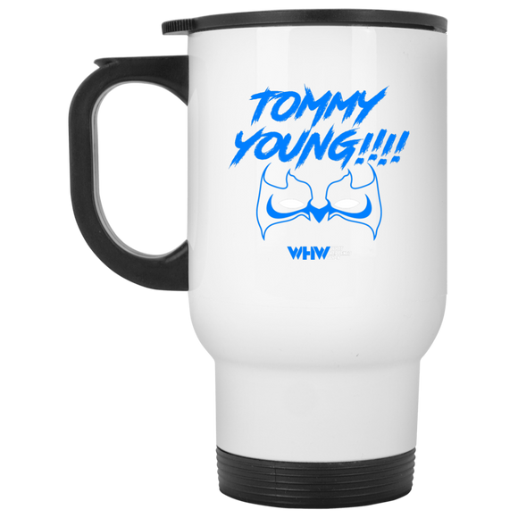 Tommy Young White Travel Mug
