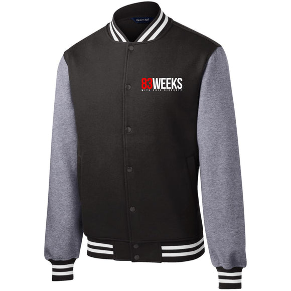 83 Weeks Logo Fleece Letterman Jacket