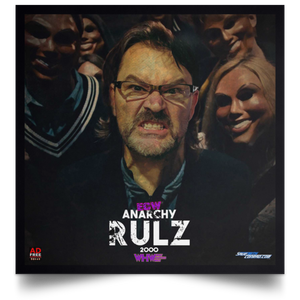 Anarchy Rulz 2000 Satin Square Poster