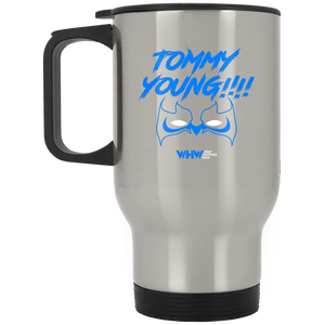 Tommy Young Silver Stainless Travel Mug
