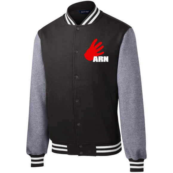 Arn Logo Fleece Letterman Jacket