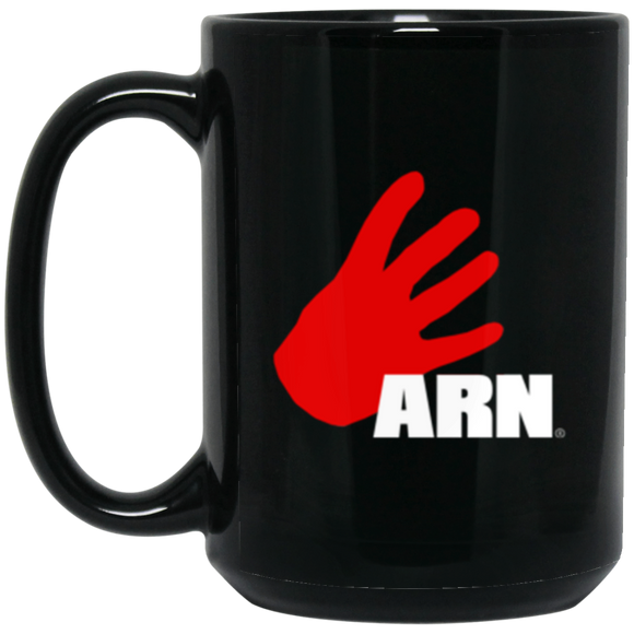 Arn Logo 15 oz. Black Mug