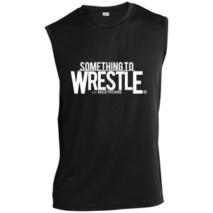 STW White Logo Sleeveless Performance T-Shirt