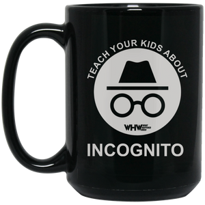 Incognito - 15 oz. Black Mug