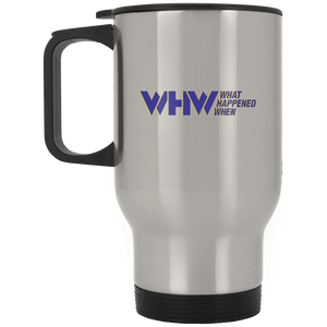 WHW Silver Stainless Travel Mug