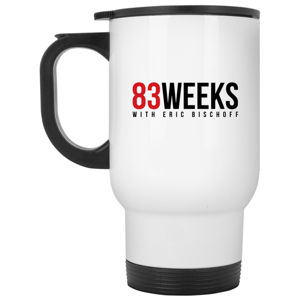 83 Weeks White Travel Mug
