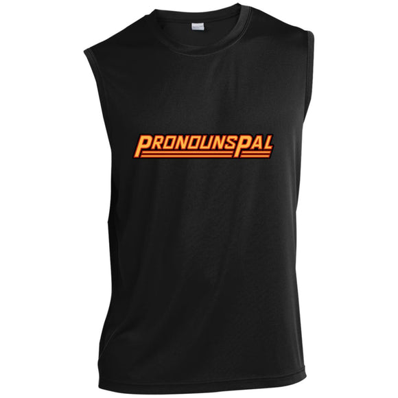 Pronouns Pal Sleeveless Performance T-Shirt
