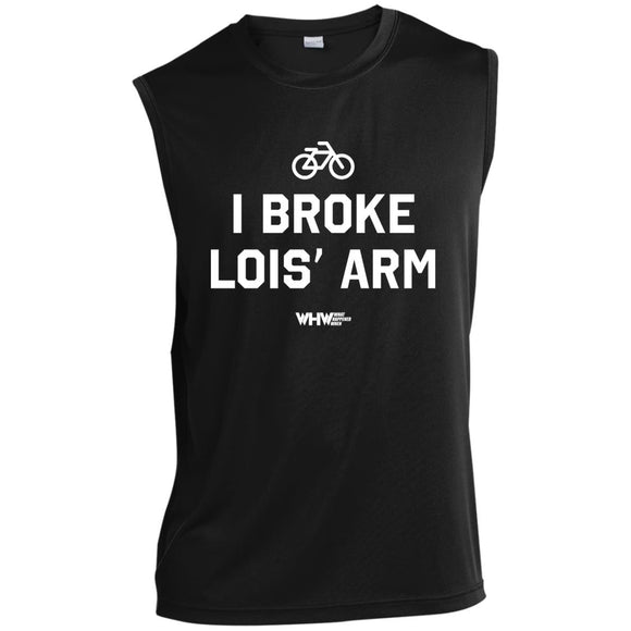 Broke Lois' Arm Sleeveless Performance T-Shirt
