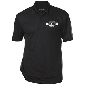 Without Question Performance Textured Three-Button Polo