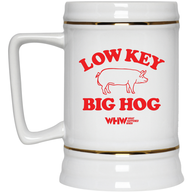 Low Key Big Hog Beer Stein 22oz.