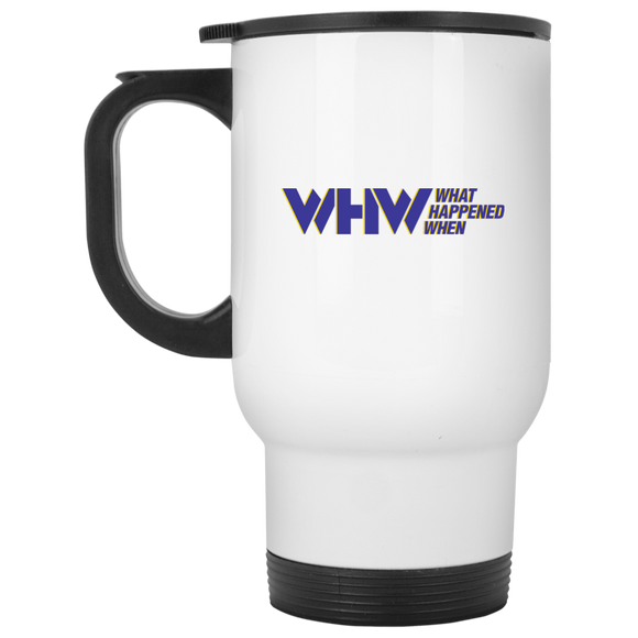 WHW White Travel Mug