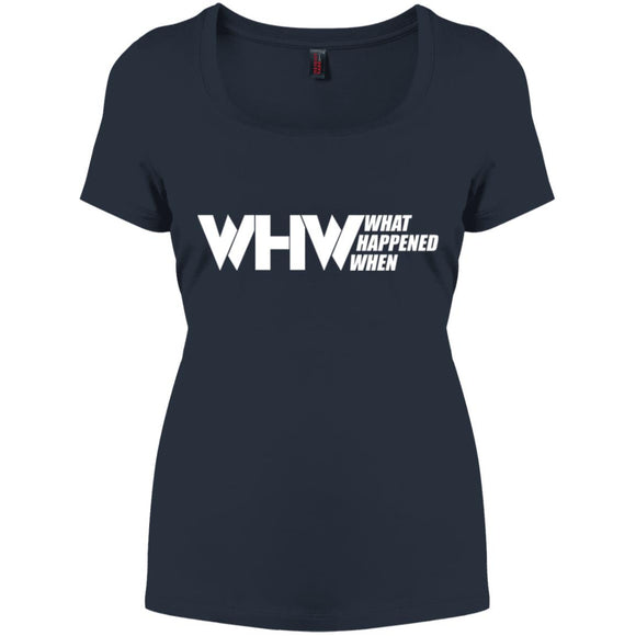 WHW Logo Perfect Scoop Neck Tee