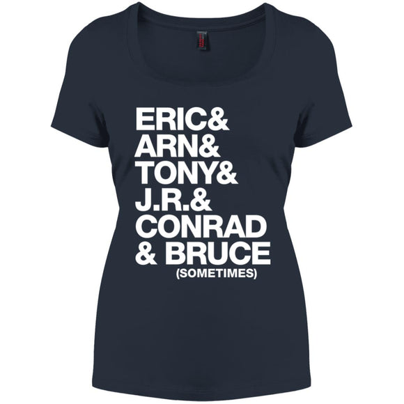 Bruce Sometimes Name List Perfect Scoop Neck Tee