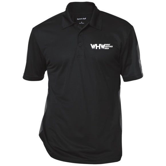 WHW Logo (White) Performance Textured Three-Button Polo
