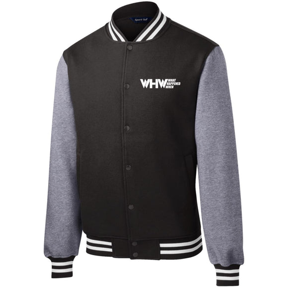 WHW Logo Fleece Letterman Jacket