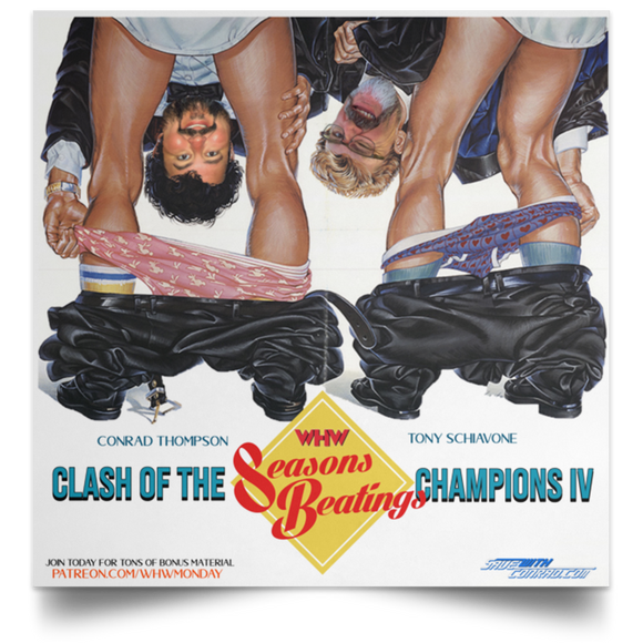 Clash IV Satin Square Poster