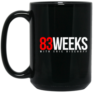 83 Weeks Logo 15 oz. Black Mug