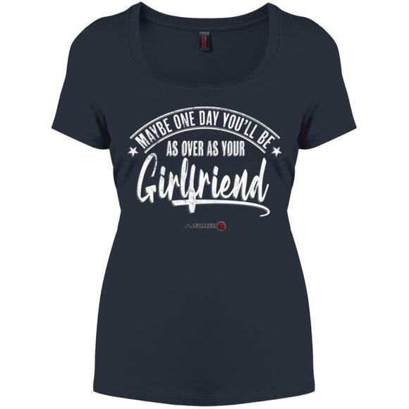Over As Your Girlfriend Perfect Scoop Neck Tee