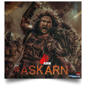 Ask Arn #23 Satin Square Poster
