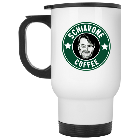 Schiavone Coffee - White Travel Mug