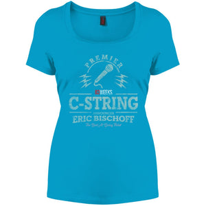 C-String Announcer Perfect Scoop Neck Tee