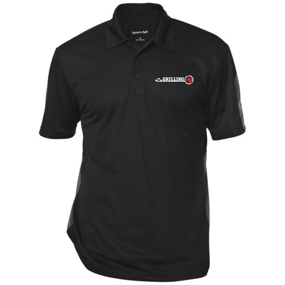 Grilling JR Performance Textured Three-Button Polo