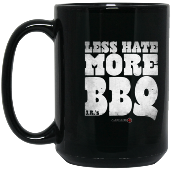 Less Hate More BBQ 15 oz. Black Mug