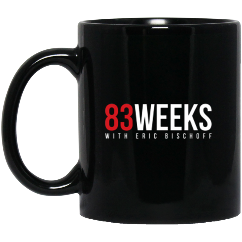 83 Weeks Black Mug