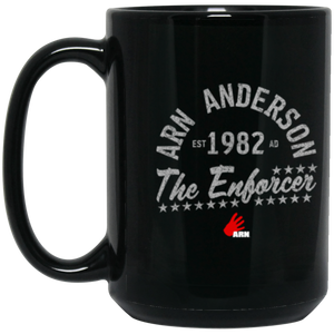 The Enforcer 15 oz. Black Mug
