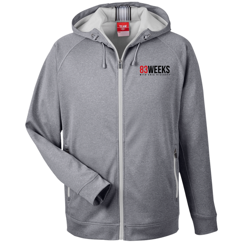 83 Weeks Team Men's Heathered Performance Hooded Jacket